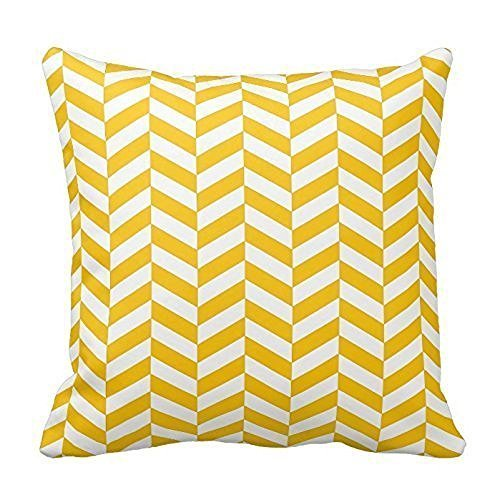 home-style-chevron-pattern-yellow-herringbone-throw-pillow-cover