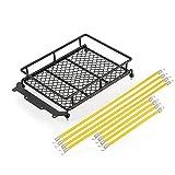 Malloom Portaequipajes Paquete de carga 1/10 Accesorios sobre orugas Cuerda de portaequipajes para SCX 10 RC Remolque de coches de escalada (Amarillo)