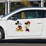 Disney Mickey Decal Mickey Minnie Mouse Bébé Accueil Stickers Bande Dessinée Stickers Muraux Voiture Fenêtre Porte Toilette Autocollant