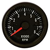 Autostyle PI 48955 Tableaux de Bord Instrument Performance Compte Tours, Noir Classique, 52 mm