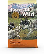 Taste of The Wild Grain Free Premium High Protein Dry Dog Food High prairie Puppy Recipe with Roasted Bison &a