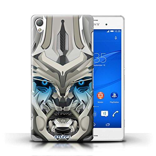 Kobalt® Imprimé Etui / Coque pour Sony Xperia Z3 / Opta-Bot Bleu conception / Série Robots Mega-Bot Bleu