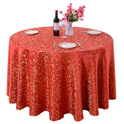 Heheja Rond Rectangulaire Carré Nappe de Table Restaurant fête Satin Nappe Rouge 160*160cm