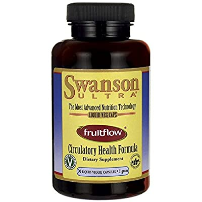 Swanson Fruitflow Circulatory Health Formula 1,000mg (1g), 90 Liquid Vegetarian Capsules from Swanson Health Products