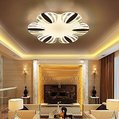 CNBBGJ Wohnzimmer, runde LED-Deckenleuchte, modernen, kreativen shell Schlafzimmer Leuchten, 68 * 6,5 CM, weißes (Halskette Weiß Shell Halskette)