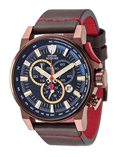 DETOMASO Herren-Armbanduhr Bottone Analog Quarz DT1064-D