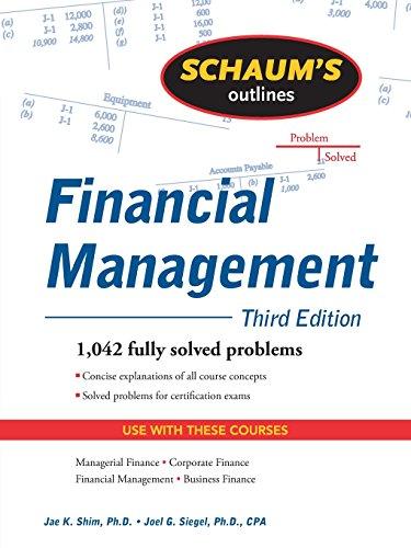 Pdf Epub Schaum S Outline Of Financial Management Third Edition Schaum S Outline Series Pdf Online Library By Jae K Shim Gut65d7y756dgd
