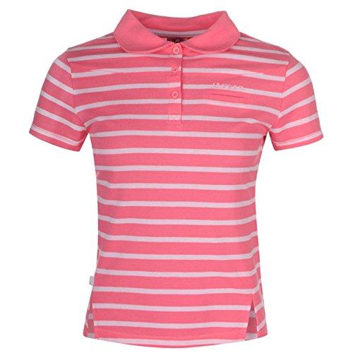 LA Gear Yarn Dye Damen Poloshirt Kurzarm Polohemd Polo T Shirt Tee Top Freizeit Rosa 14 (L) (Baumwoll-performance-pocket Herren Tee)