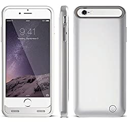 Sminiker External Charging Case Extended Backup Battery Pack Cover Case For iphone 6/6S (Silver)