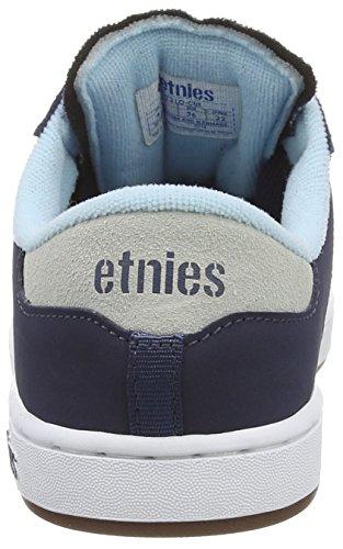 Etnies Kids Lo-Cut, Chaussures de Skateboard Mixte Enfant Bleu (Blue 400)