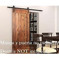 DIYHD 6ft Puerta de granero corredera estilo rústico americano puerta de granero corredera de madera para
