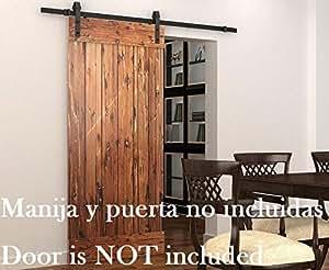 Diyhd porta scorrevole in legno stile rustico americano - Porta scorrevole esterno muro fai da te ...