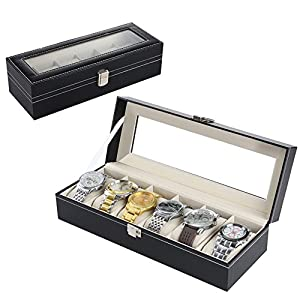 Uten Uhrenbox Uhrenkoffer, Schaukasten Uhrenkasten Uhrenvitrine aus kunstleather