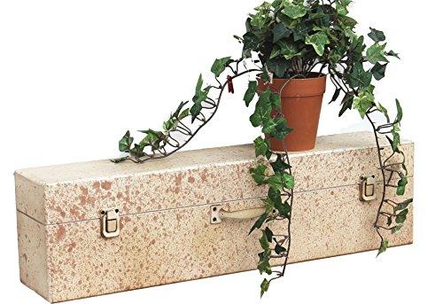 deetjen & meyer Wandregal Koffer Antik 22790-B Wandkonsole 55 cm Kofferregal Regal Beige Vintage Wand
