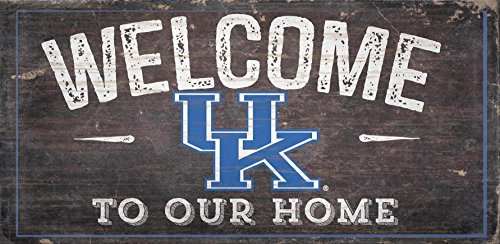 Fan Creations NCAA Kentucky Wildcats 30,5x 15,2cm Distressed Welcome to Our Home Holz Schild -
