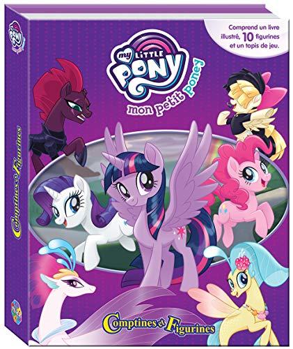 PHIDAL-My Little Pony Koffer Buch mit 12Figuren + Spielmatte, 9782764343463, Mehrfarbig (My Little Pony-koffer)