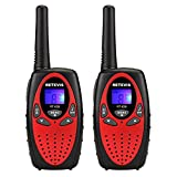 Retevis RT628 PMR Walkie Talkie mit LC-Display (1 Paar, Rot)