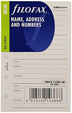 Filofax Mini Name/ Address/ Telephone Number
