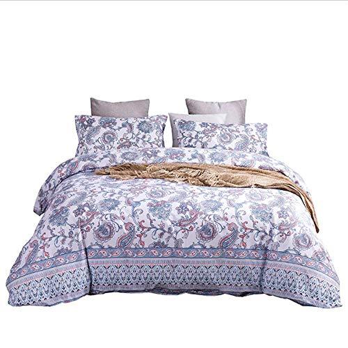 SHJIA Bettbezug Queen Full Twin King Bettbezug Cotton Comforter Cover Bedrucktes Bett H 264x229cm