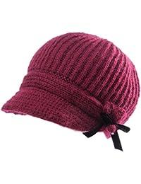e9f2eaa514a SIGGI Wool Knit Visor Beanie Newsboy Cap Baker Boy Hat Visor Beret Warm  Lined Winter Hats