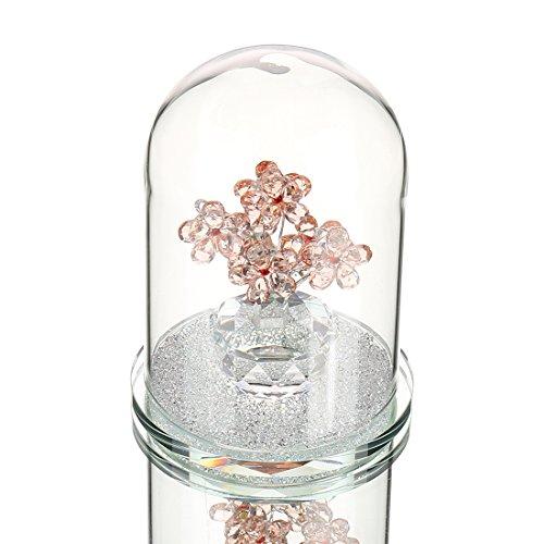 Sconosciuto h & d in cristallo rosa vaso figurine cupola con scatola regalo, regalo per lei anniversario, san valentino, festa della mamma