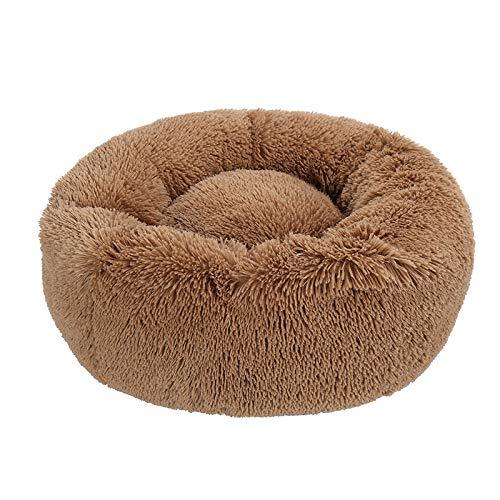 Segle Deluxe Haustierbett für Hunde und Katzen, sicher, weich, warm, rund, waschbar, Schlafbett für mittelgroße und extragroße Haustiere -