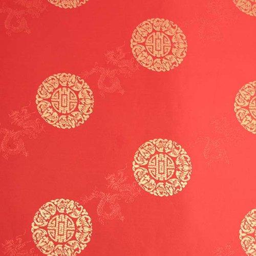 Wrapables Longevity Satin-Brokat, dekoratives Papier, Rot/Gold, 3 Stück -