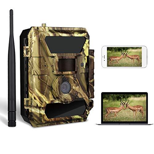 3G Wildkamera,3G Überwachungskamera, Jagdkamera (3G GPRS GSM) mit FOTOAPP-0,4s Auslösezeit- Fotofalle-SIM Karte Inkludiert-Europaweiter Empfang für Wildtierjagd und Home Security