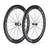 VCYCLE Nopea 700C Vélo Carbone Ruote Clincher 60mm Shimano ou Sram 8/9/10/11 Vitesse