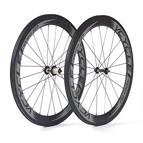 VCYCLE Nopea 700C Carbon Rennen Rennrad Reifen Tubular Schlauch 60mm Ultraleichte Shimano 8/9/10/11 Speed oder Campagnolo 10/11 Speed -