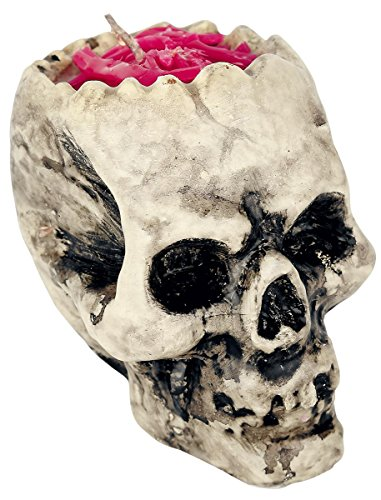 Totenschädel-Kerze Tischzubehör Halloween Gehirn -