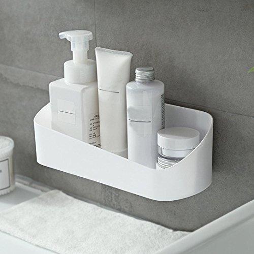 samLIKE duschregal,Küche Toilette Aufbewahrungsbox Regal Rack Toilettenartikel Basket Organizer (weiß)