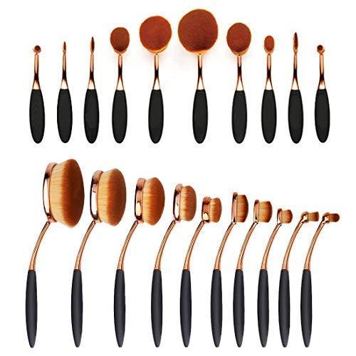 Wss - Cepillo Dientes Forma Ovalado Brocha Maquillaje