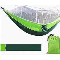 Turismo Con zanzariere Interni Esterni Student swing Camera Dormitorio per studenti doppia Amaca paracadute panno Hammock ( colore : # 5 ) - Singola Corda Di Cotone