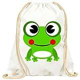'Turn Bolsa 'Frog de Anfibios de animales de color verde de Feliz de lächelnd de rana con...
