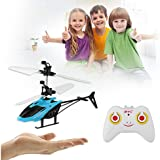 Magicwand Kids Plastic Induction Type 2-in-1 Flying Indoor Helicopter with Remote (Multicolour)