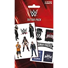 Lucha Libre - WWE, Logos Y Superstars, 11 Tattoos Set De Tattoos (17 x 10cm)