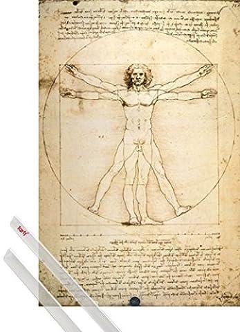Poster Anatomie - Poster + Suspension : Leonardo Da Vinci