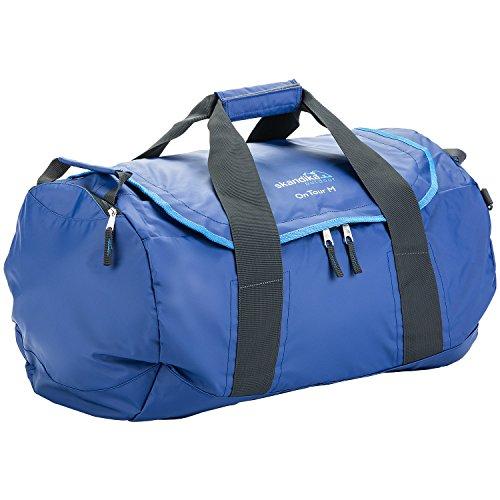 skandika On Tour M Reisetasche strapazierfähige und wasserdichte PVC-Plane, Nassfach, verstellbares Tragesystem, 61x38x38cm (blau)