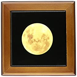3dRose ft_57179_1 Full Moon Rising-Astronomy-Photography-Framed Tile, 8 by 8-Inch
