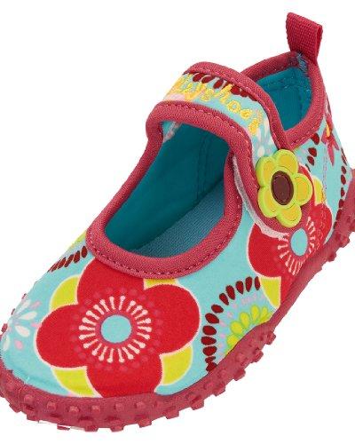 Playshoes Aquaschuhe, Badeschuhe Blumen mit höchstem UV-Schutz nach Standard 801, Ciabatte da spiaggia/piscina bambina, Multicolore (Mehrfarbig (original 900)), 30/31