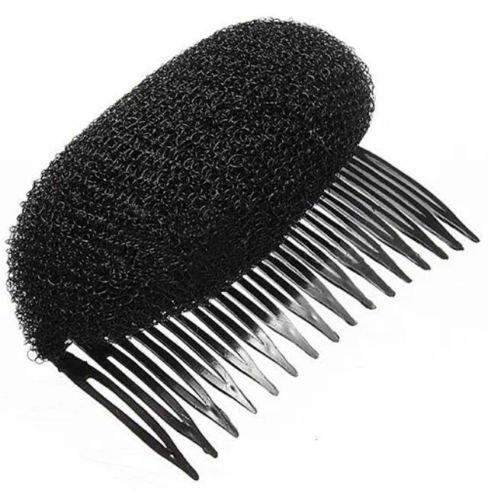 Ruche Cheveux Styles Bump en mousse Peigne pour cheveux Motif – Noir par London Heritage