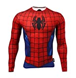 Fringoo Men's Long Sleeve Compression Top Workout Thermal T-Shirt Skin Fit Base Layer