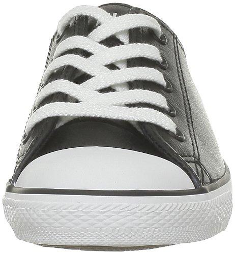 Converse - Dainty Leath Ox, Sneaker basse Donna Nero