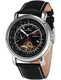 KS KS068 - Reloj Mecánico Automático Hombre, Correa de Cuero Negro