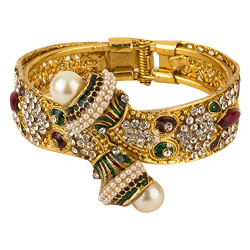 YouBella Multi-color Antique style Gold Plated Kada bangle For Women