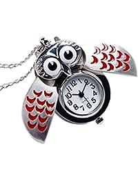 c3666fb00080 aloiness Metal Owl Llavero Reloj Llavero Bolsa Bolsillo de Coche Ornamentos  Colgantes para Mujeres Hombres Recuerdo