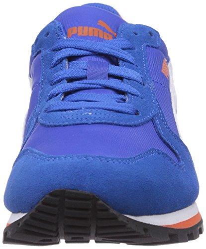 Puma  ST Runner NL Jr, Baskets pour garçon Bleu - Blau (strong blue-white-nasturtium 01)