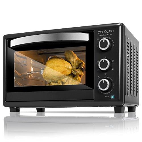 Cecotec Bake&Toast 650 Horno Eléctrico de Sobremesa, 1500 W, 5 Modos de cocinar, Temperatura hasta 230ºC y Tiempo hasta 60 minutos, Incluye Rustidor, 30 litros, Negro