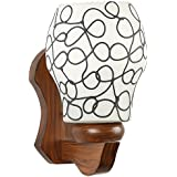 Somil Wall Light-FM1 100-Watt Sconce Decorative Wall Light (White, Round)